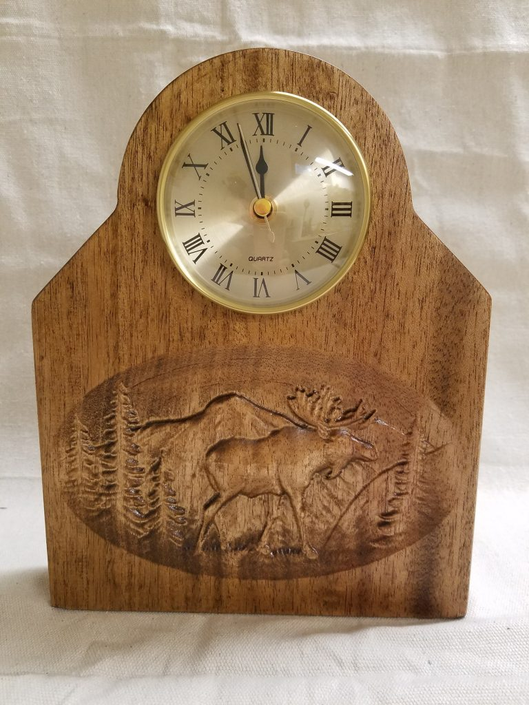 Outdoor Scene Mantel Clock