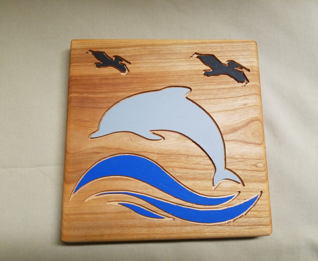 Dolphins and Pelicans Painting