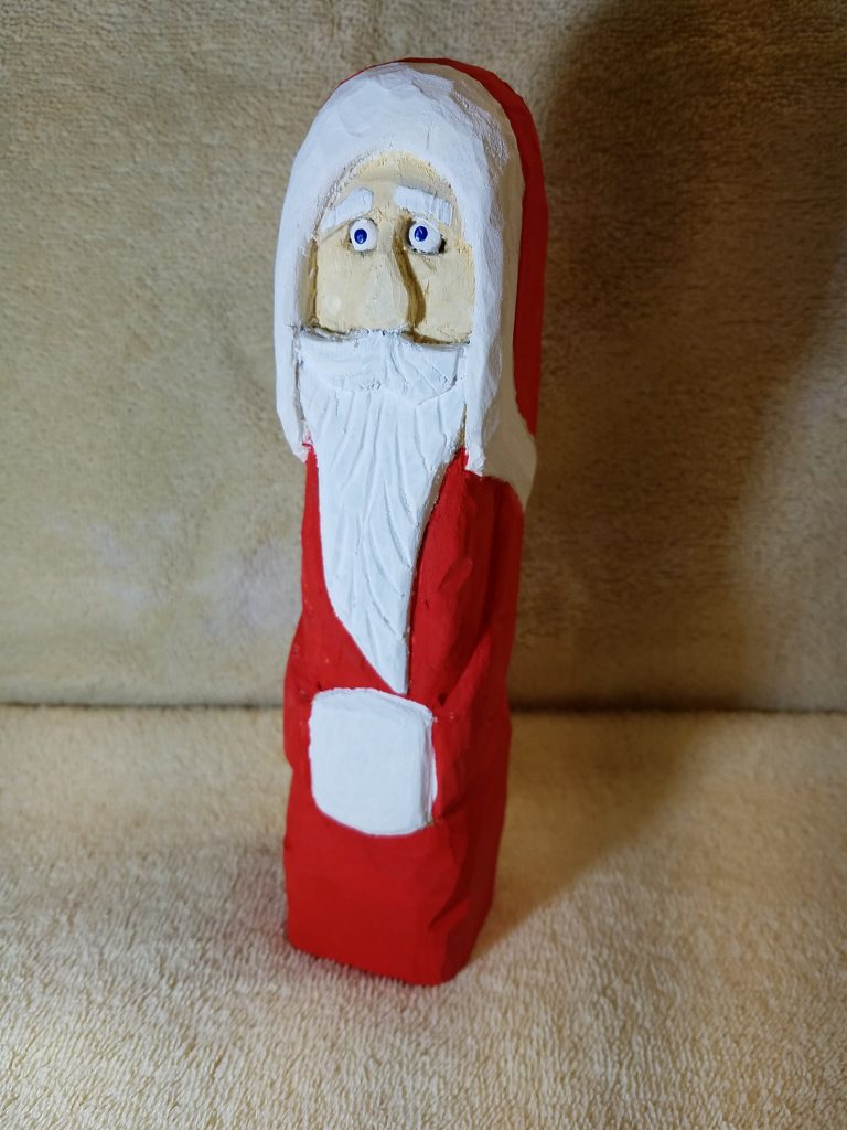 Hand Carved Father Christmas