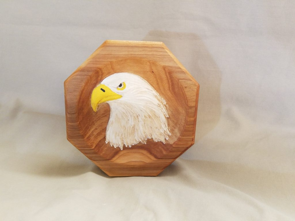 American Eagle Carved Painting