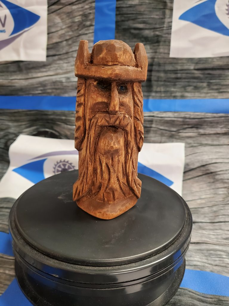Hand carved Viking